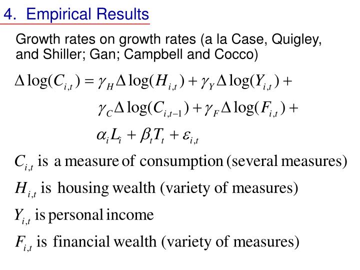 4.  Empirical Results