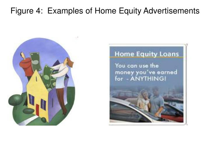 Figure 4:  Examples of Home Equity Advertisements