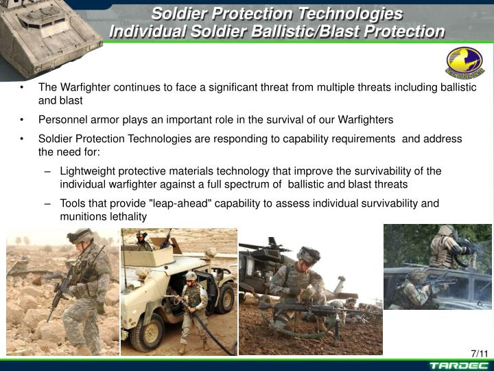 Soldier Protection Technologies