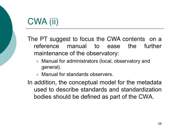 CWA (ii)