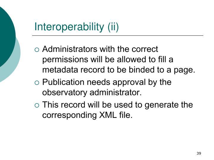 Interoperability (ii)