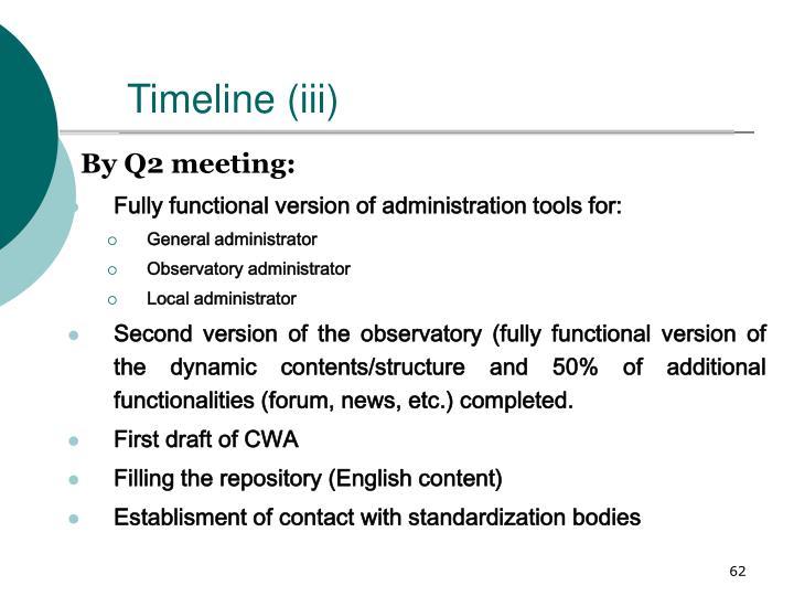 Timeline (iii)