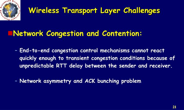 Network Congestion and Contention: