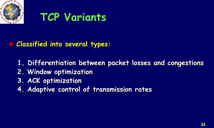 TCP Variants