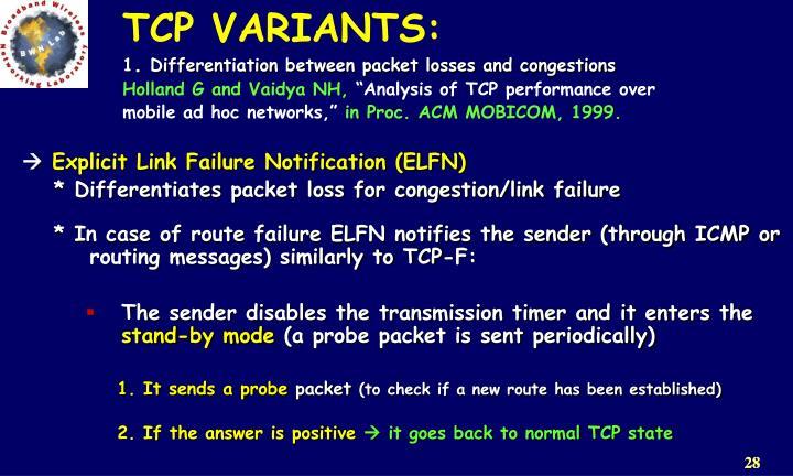 TCP VARIANTS: