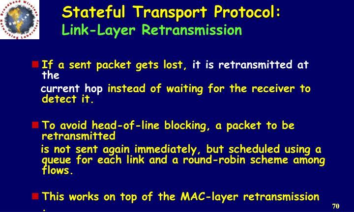 Stateful Transport Protocol: