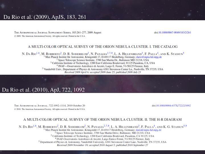 Da Rio et al. (2009), ApJS, 183, 261
