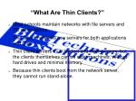 what are thin clients