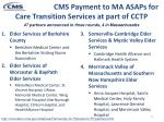 cms payment to ma asaps for care transition services at part of cctp