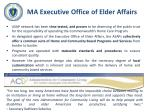 ma executive office of elder affairs
