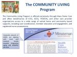 the community living program