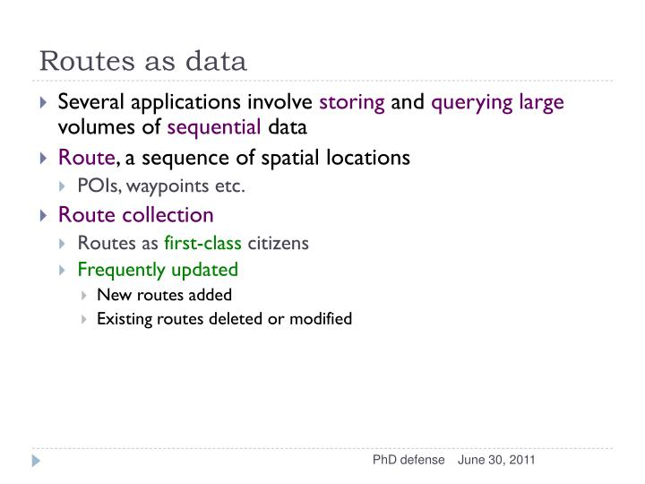 Routes as data