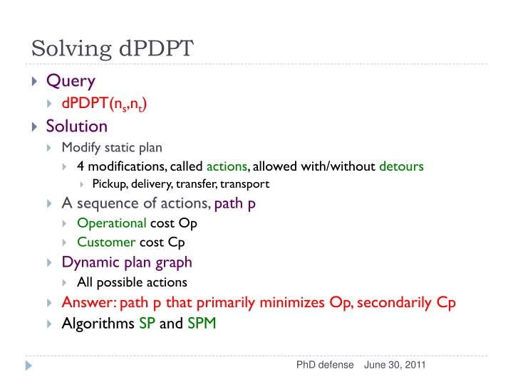 Solving dPDPT