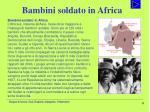 bambini soldato in africa
