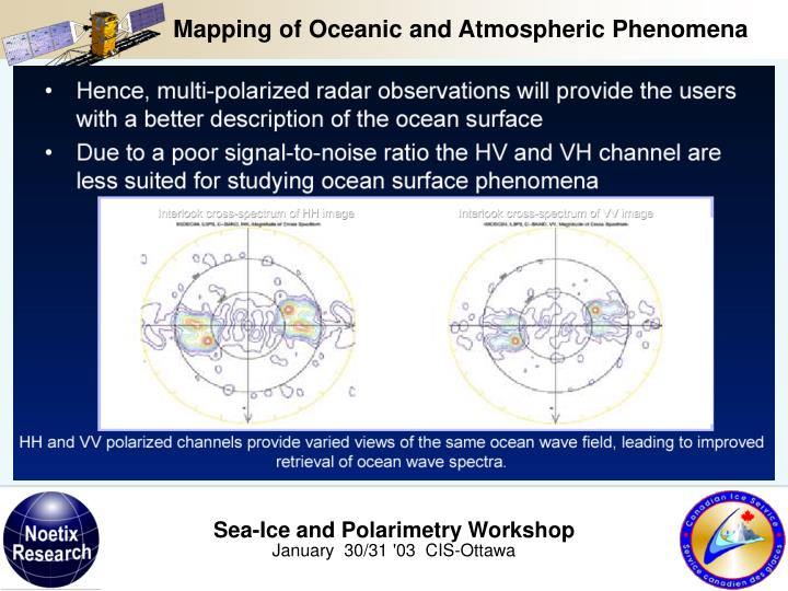 Mapping of Oceanic and Atmospheric Phenomena