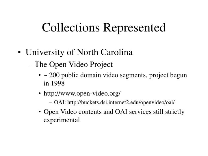 Collections represented1