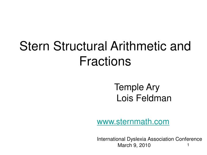 Stern structural arithmetic and fractions