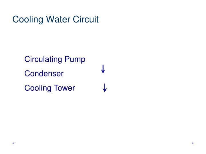Cooling Water Circuit