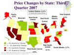 price changes by state third quarter 2007