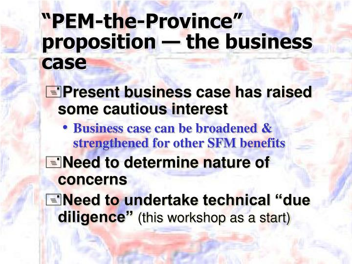 Pem the province proposition the business case