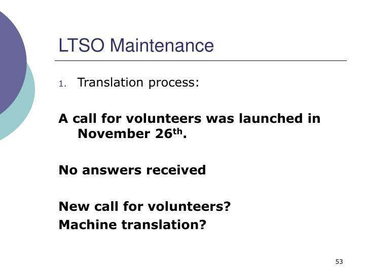 LTSO Maintenance