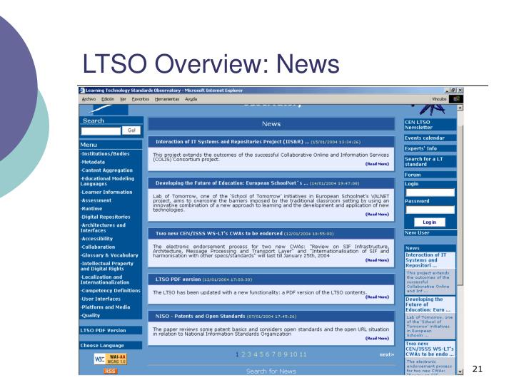 LTSO Overview: News