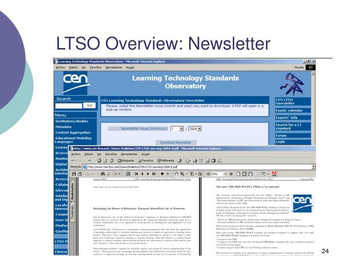 LTSO Overview: Newsletter
