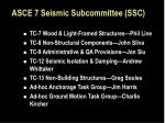 asce 7 seismic subcommittee ssc2