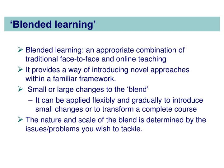 'Blended learning'