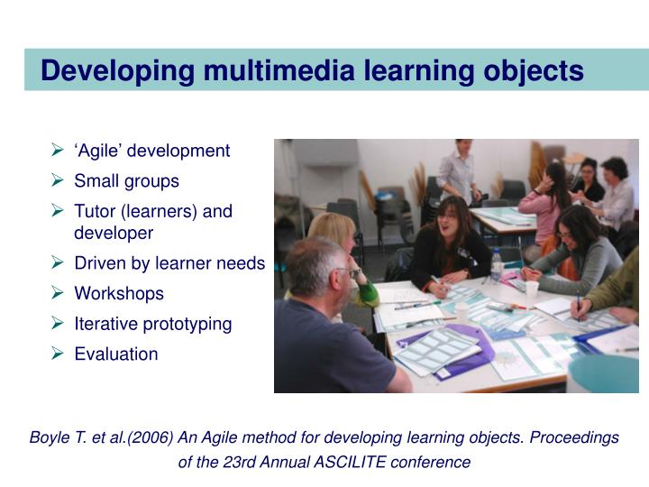 Developing multimedia learning objects