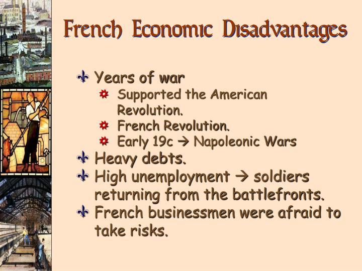 French Economic Disadvantages