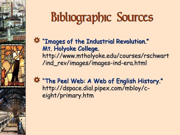 Bibliographic Sources