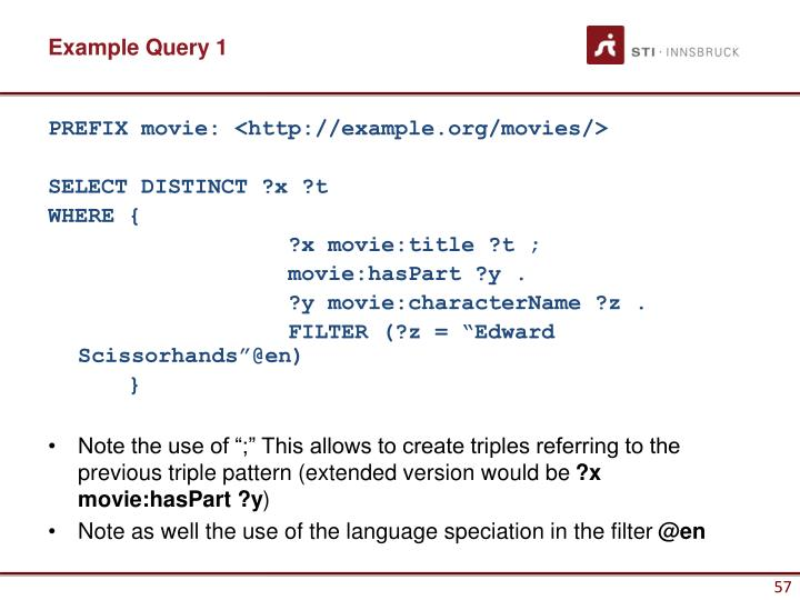 Example Query 1