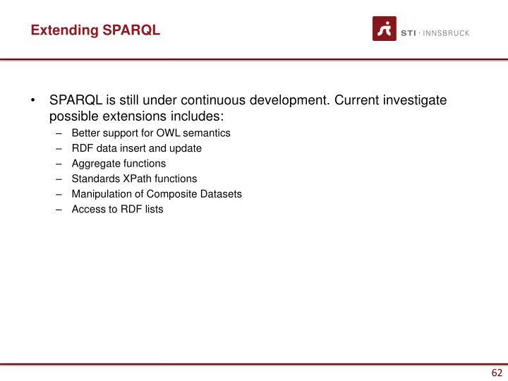 Extending SPARQL