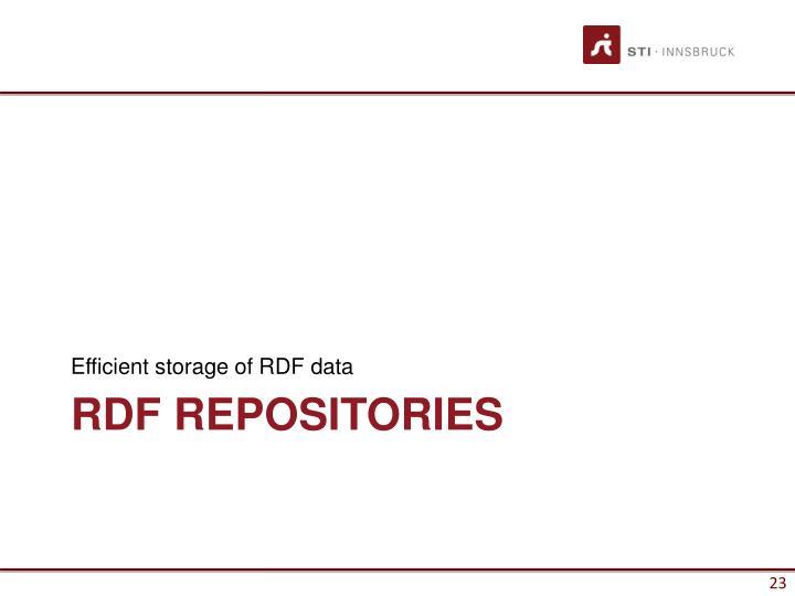 Efficient storage of RDF data