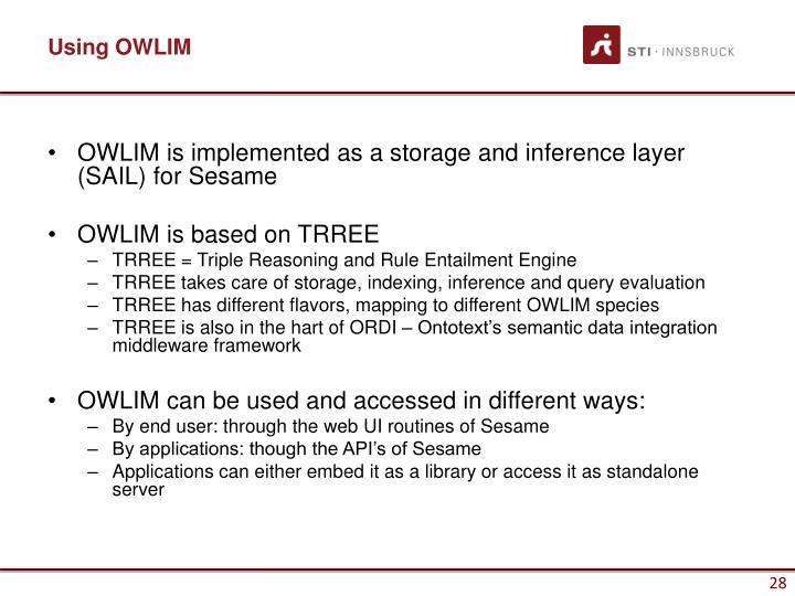 Using OWLIM