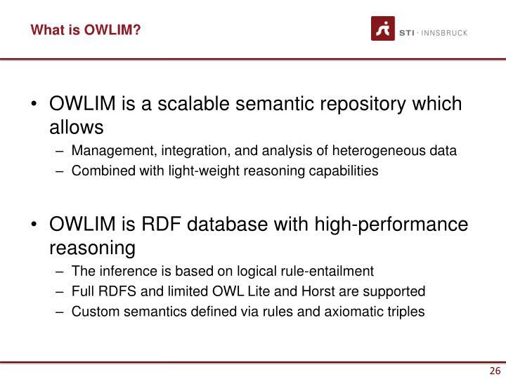 What is OWLIM?