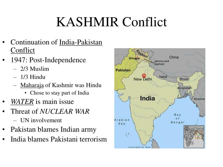 causes of conflict between india and pakistan essay Kashmir conflict has been around since 1947 it is also the key point or the reasons why india and pakistan did not get along well because of this, the diplomatic relationships between the two countries are on the fire and both countries has been witnesses few war to fought over kashmir.
