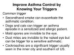 improve asthma control by knowing your triggers