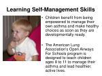 learning self management skills