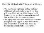 parents attitudes children s attitudes