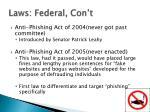 laws federal con t