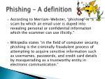 phishing a definition