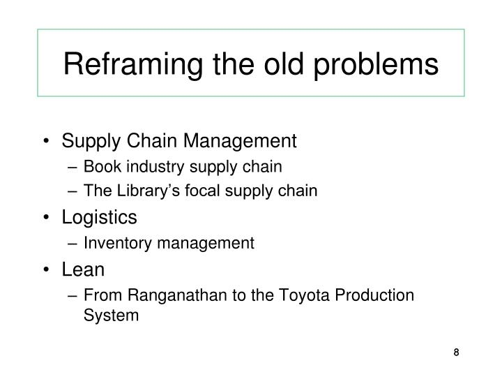 Reframing the old problems