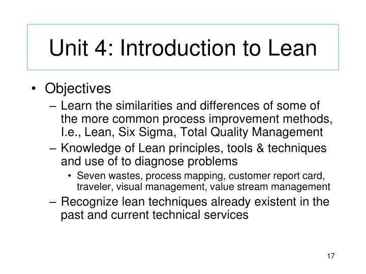 Unit 4: Introduction to Lean