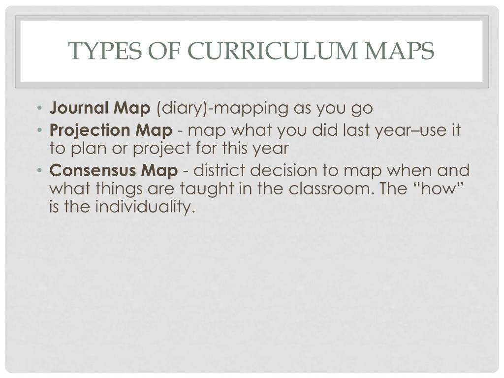 PPT - Curriculum Mapping Overview PowerPoint Presentation