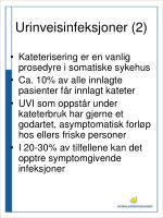 urinveisinfeksjoner 2