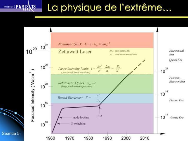 La physique de l'extrême…