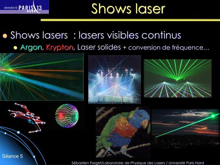 Shows laser