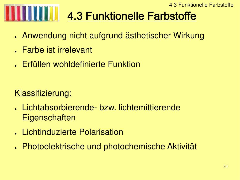 Funktionelle Farbstoffe